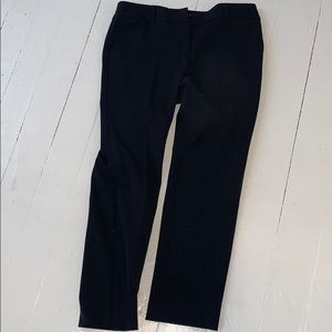 Ann Taylor factory modern cut navy petite trousers